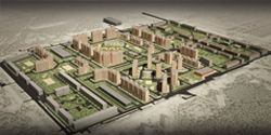 Layout and parcel plan projects in a residential district in Lipetsk